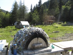 Interesting outdoor pizza oven